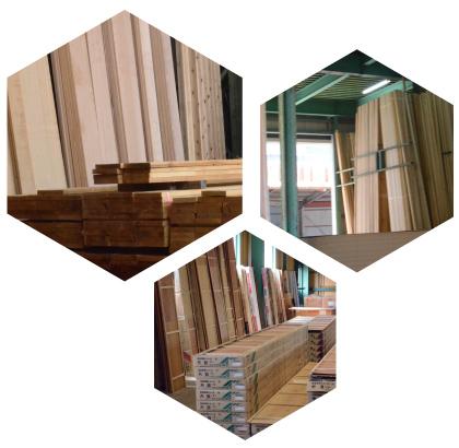 豊富な材木、建材の在庫